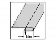 Zwijacz pojedynczy dolny A75D do stębnówki przemysłowej. Różne rozmiary