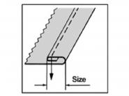 Zwijacz podwójnie obrębiający A72L do stębnówki przemysłowej. Różne rozmiary podwinięcia