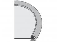 Lamownik A1 dwustronny symetryczny do szycia łuków zewnętrznych do stębnówki. Rozmiary 16-40mm
